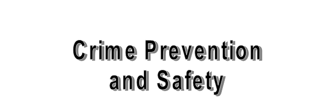 Crime Prevention and Safety Header